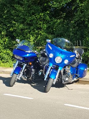 Harley-Davidson Road Glide and Indian Roadmaster